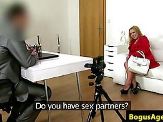 Chubby Babe Talked Into Sex Audition By Agent