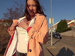 Czech Girl Flashes Tits And Pounded Hard