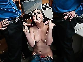 Hot 3some With Teen Shoplifter Lexi Lovell