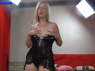 Hot Blonde In Leather Fucked