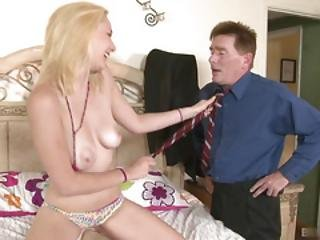 Lithe 18yearold Blonde Hottie, Rylie Richman, Gets It On With A Man Twice