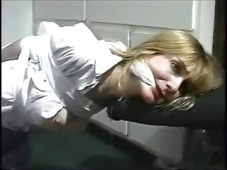 Busty Blonde Cleave Gagged
