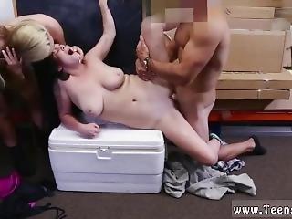 Public Store Blowjob Lesbians Pawn Their Asses!