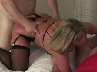 50th Birthday Party, Scene 3, Spitroast And Anal