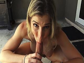 Hot Blonde Momma Swallows Stepson Young Cock As She Strokes