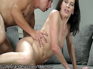 blowjob, doggystyle, bedstemor, matur, tynd, ung