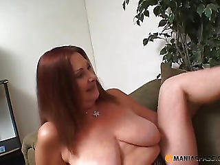 Woman Fucks With His Girlfriend On The Couch