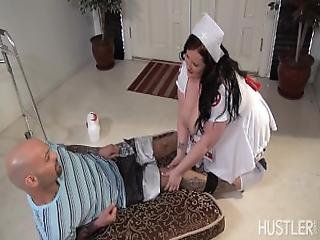 Bbw Eliza Allure Nurses Patient With Lush Lips %26 Huge Tits Around His Dick%21