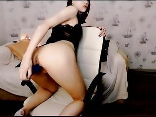 Alice Masturbates Big Blue Jelly Dildo 18-01-09 Elisjankins@cb