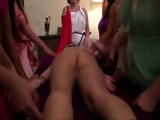 Hot Tight Teen Lesbians Get Humiliated For Their Initiation