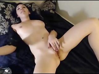 Cute Teen With Hot Body Smoke And Masturbates