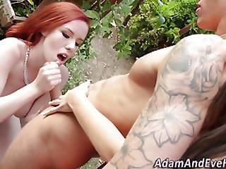 Redheaded Slut Jerking
