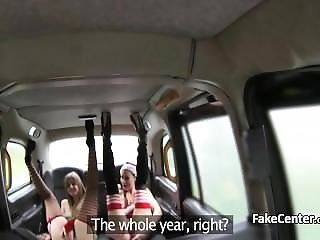 Christmas Orgy On Backseat Of Taxi