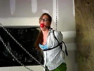 Chained Up And Gagged In Stockings