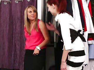 Redhead Cfnm Hottie Engulfing Customers Dick