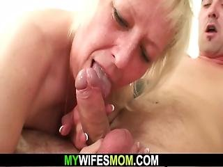 Horny Wifes Old Mom Seduces Him