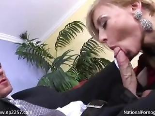 Nina Hartley With Satin Gloves
