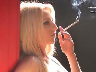 Carina Ellis Smokes Cigarette 120s