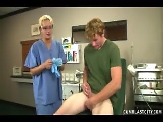 Cumshot, Doctor, Handjob, Jerking, Sexy
