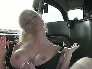 Flirty Czech Girl Shows Her Big Tits For A Free Ride