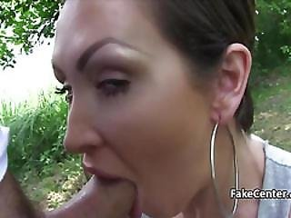 Fuckable Brunette Doing It Outdoors