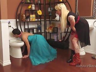 Femdom Toilet Slave -goddess Leya