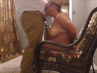 The Slut Scarlett Gets A Late Night Visitor While Hubby Is Asleep