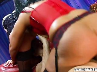 Paige Ashley And Jasmine Black Take It Up The Ass Threeway