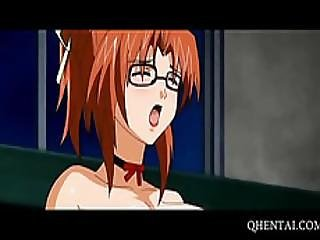 Hentai School Babe Mouth Filled With Cock