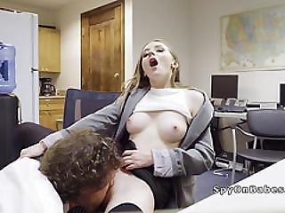 Nasty Secretary Fuck Her Perv It Guy After Work