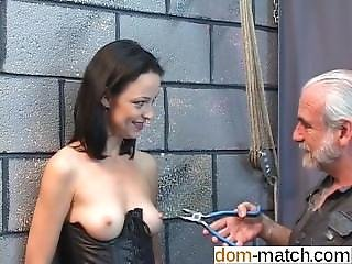 Gorgeous Young Girl In A Bdsm Corset Is - Fuck Her On Dom-match.com