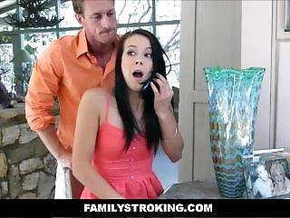 Teen Alaina Kristar Caught Stealing Fucked By Step Dad