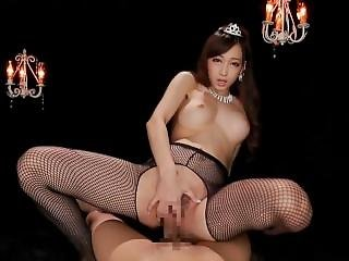 Kurea Hatsumi Handjob And Facial Too Fake Dick