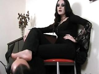 Now Getting Her Feet Worshiped Or Some Shit