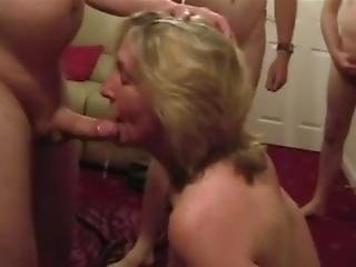 amatør, blond, blowjob, sædshot, matur, milf, slut, hustru