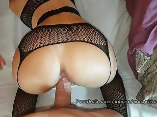 College Teen In Lingerie Having Multiple Orgasm. Made In Canarias