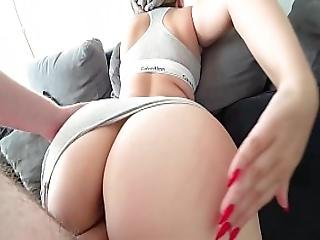 Schoolgirl With A Big Ass Fucked Through Panties Calvin Klein