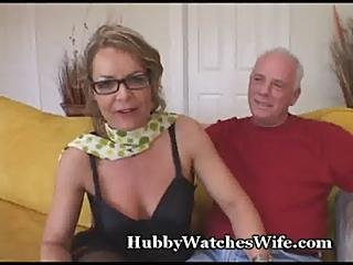 Older Babe Watched By Hubby