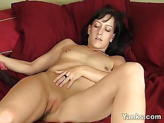 Brunette Elise Masturbating
