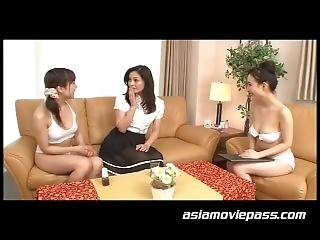 Japan Lesbian In Beauty Salon Fuck Client! Literally!