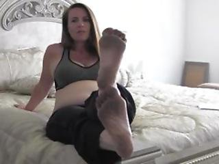 Pregnant Milf Nikki Makes You Her Foot Slave Part