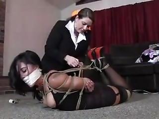 Bondage, Lesbian, Tied
