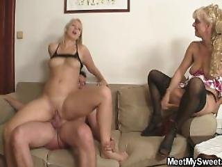 Family Threesome With His Parents