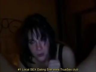 Black Haired Teen Takes It Deep In Throat