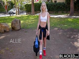 Blacked This White Chick Just Hangs Out At The Court Waiting