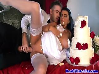 Horny Big Titted Milf Bride Fucked Hard