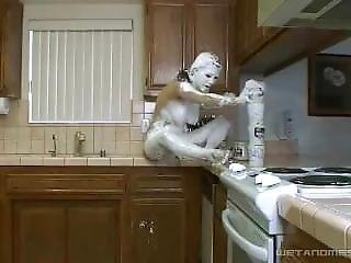 Kymberly Jane Fluffed In The Kitchen