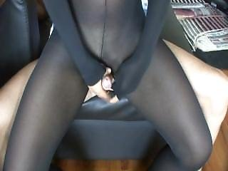 2010 Catsuit Nylon Black Fuck And Cum