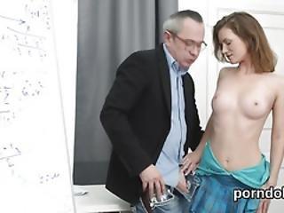 Innocent Schoolgirl Is Teased And Screwed By Elderly Teacher