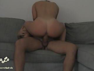 Gorgeous Babe Moaning While Riding A Big Cock